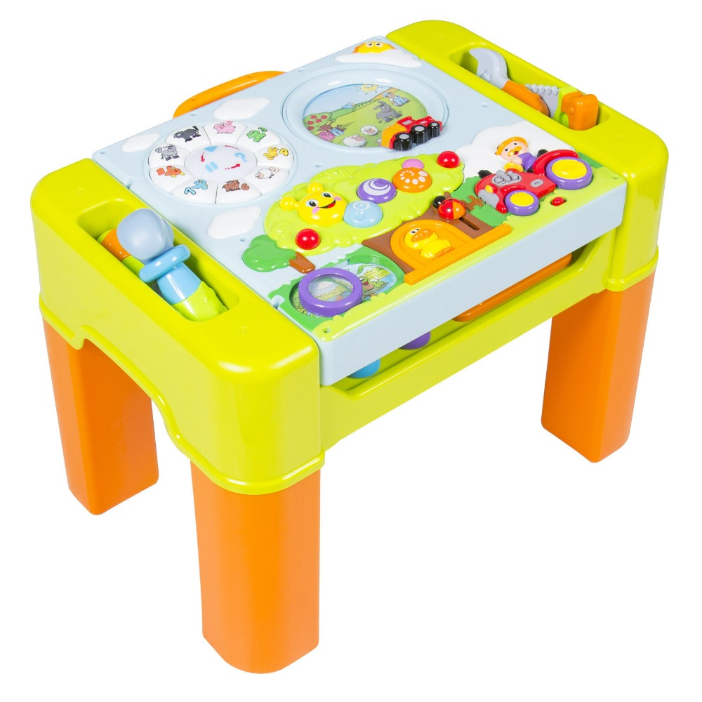 Kids Learning Activity Table With Quiz, Music, Lights, Shapes, Tools and Letters Early development toys For boys Gift quiz блуза