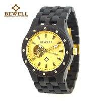 BEWELL 2017 механические Для мужчин часы деревянные часы зрелым и стабильным Для мужчин s часы Crologio Uomo Relogio Masculino де Luxo 131A