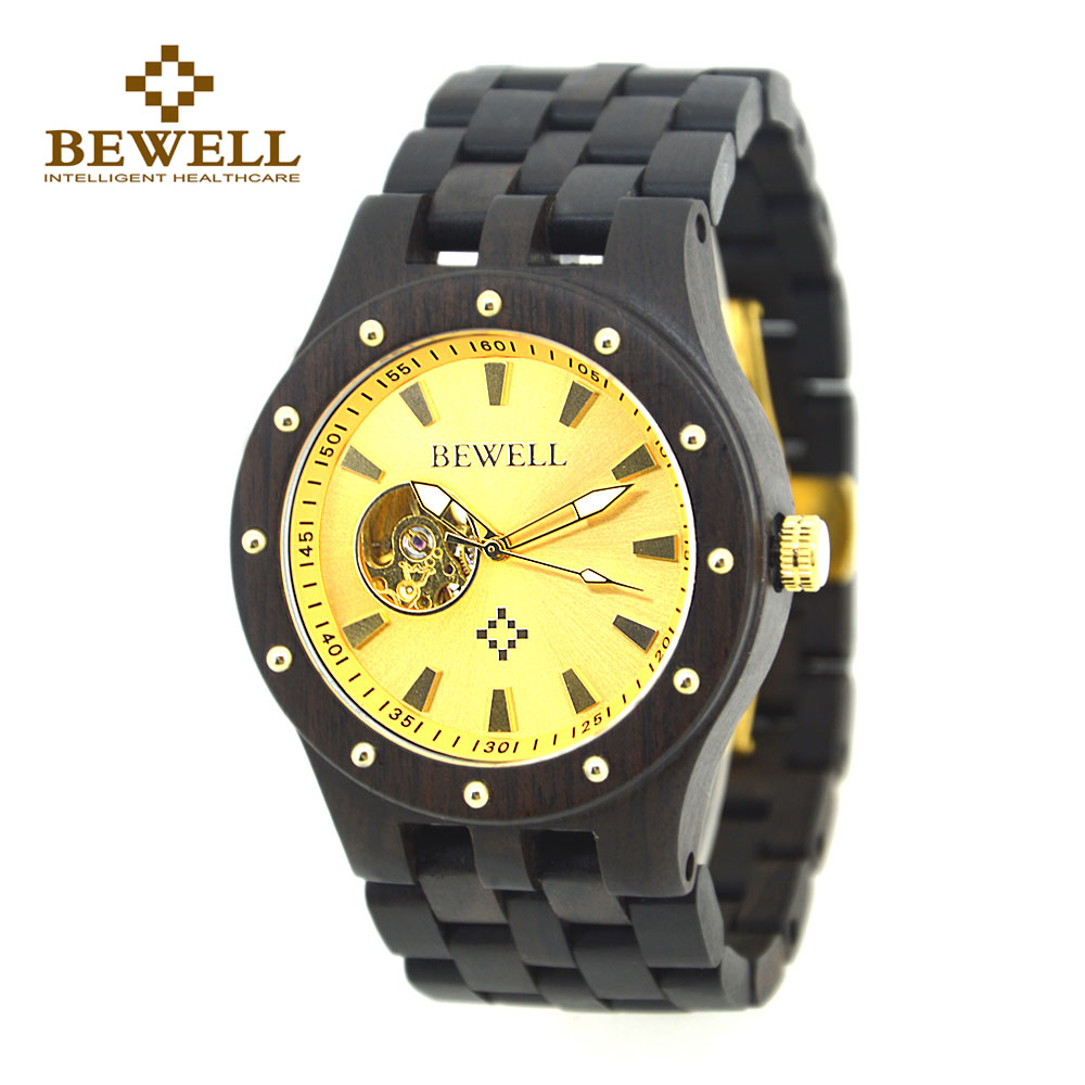 BEWELL 2017 Mechanical Men Watch Wood Watch Mature and Stable Mens Watches Crologio Uomo Relogio Masculino De Luxo 131A