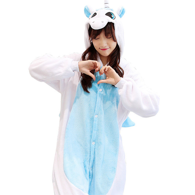 485a5ff4b9 Pajamas for women unicorn Totoro Pikachu animal pajamas one piece Flannel  pyjama femme panda stitch onesies for adults homewear