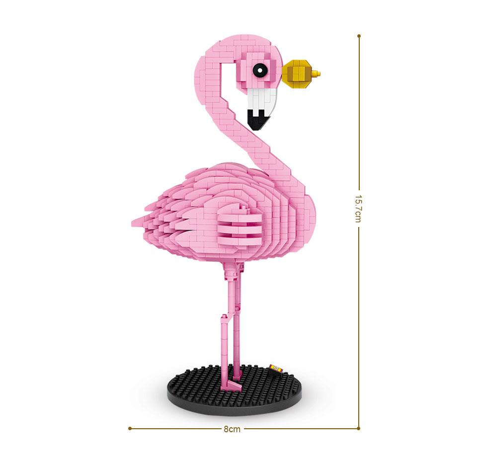 LOZ bloques de diamante de juguete para niños, Ladrillos educativos de  animales de dibujos animados coloridos, pájaro rosa, regalo, 9205|Bloques|  - AliExpress
