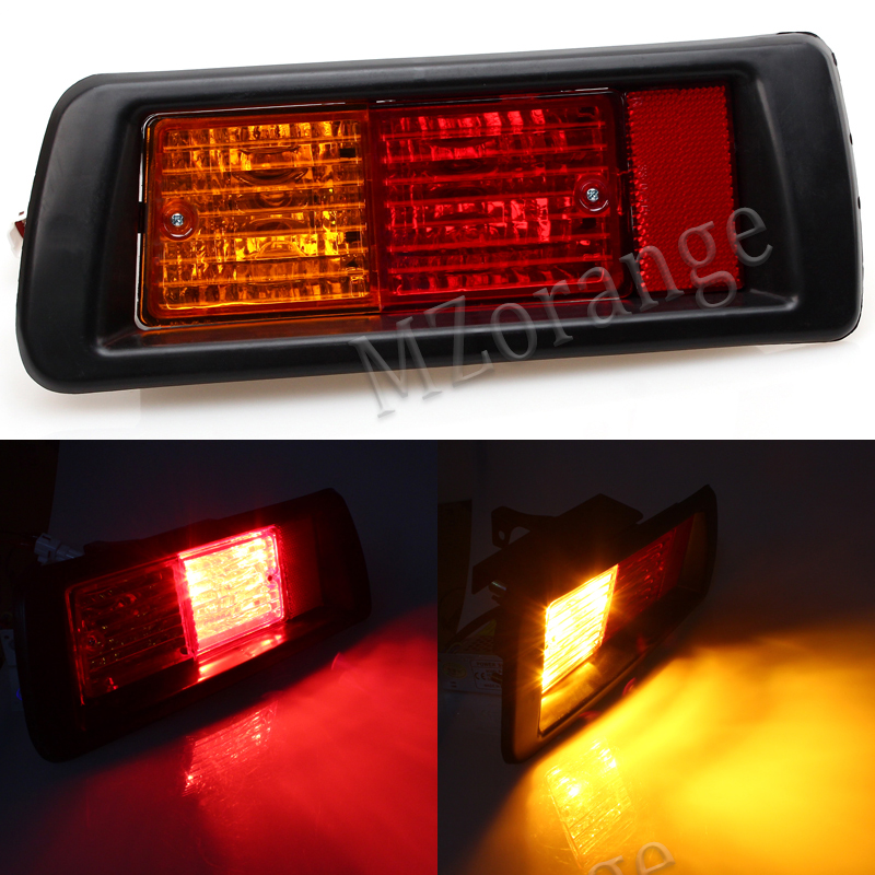 MZORANGE Rear Bumper Reflector Fog Light Tail Light for TOYOTA LAND CRUISER PRADO 1996 1997 1998 1999 2000 2001 2002 Newest