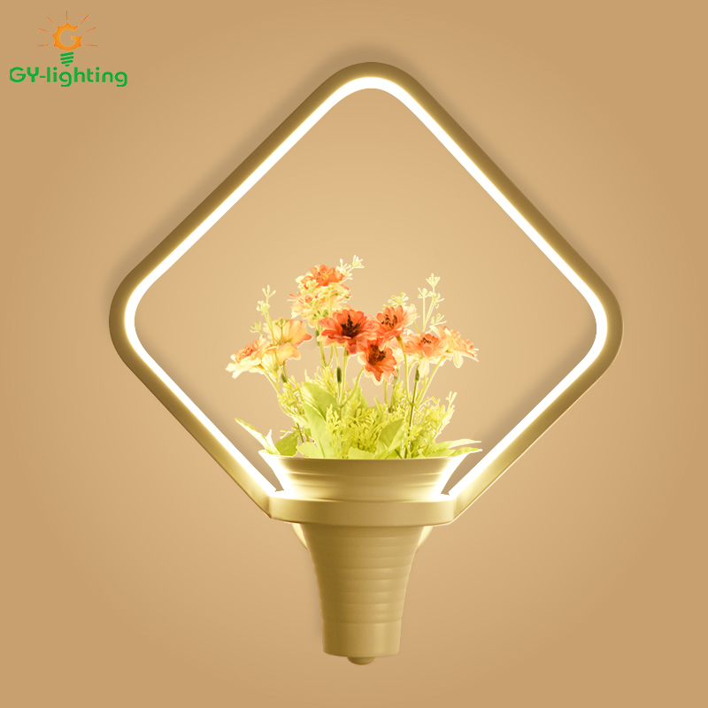 led background wall bedroom lamp lamps lights bedside aisle balconies walls decorative creative flowers living