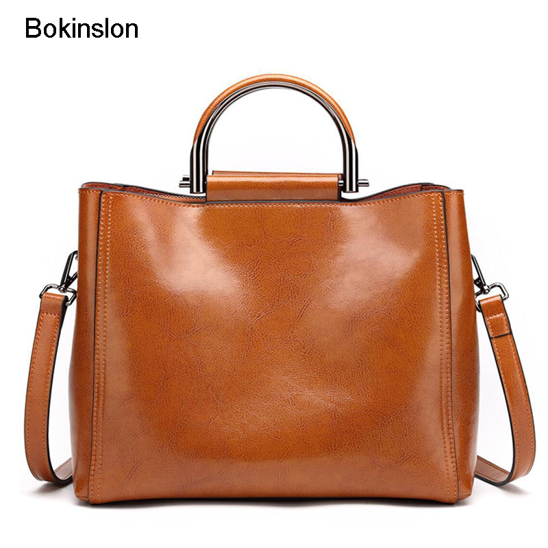 Bokinslon Woman Handbags PU Leather Fashion Composite Bag For Ladies Large Capacity Solid Color Girls Shoulder BagsBokinslon Woman Handbags PU Leather Fashion Composite Bag For Ladies Large Capacity Solid Color Girls Shoulder Bags