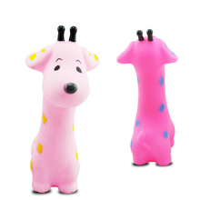Baby Bath Toy Swimming Pool Toys Kids Red Pink Giraffe Squeeze-Sounding Infant For Water Summer