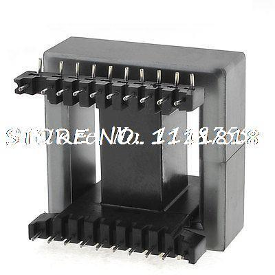 EE55 EE Type Transformer Ferrite Magnetic Core Coil Former 56x57x21mm 20sets lot ee16 pc40 ferrite magnetic core and 5 pins 5 pins side entry plastic bobbin customize voltage transformer