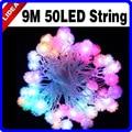 9M 50 LED Snowflake Wedding Party Garden Navidad Garland Christmas Decoration Outdoor Lamp Fairy String New Year Light CN C-06