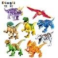 Jurassic World Dinosaurs Model Building Kits Figures Legoings Marvel Colorful Dinosaur Figures Blocks Toys For Children Gifts