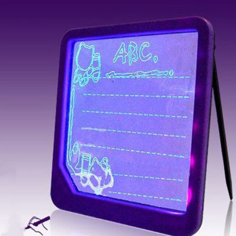 LED Light Fluorescent Writing Board Kids Electronic Luminescent Wordpad Message Board Handwriting Pad Children Toys Gift YJS Dro in Math Toys from Toys Hobbies