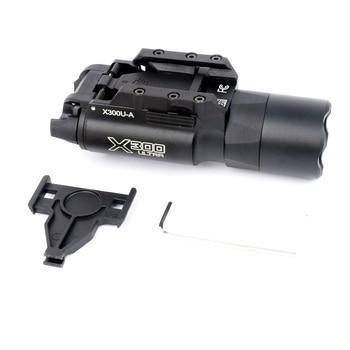 WIPSON Tactical X300 X300U Flashlight Waterproof Weapon Light Pistol Gun Lanterna Rifle Picatinny Weaver Mount For Hunting 2