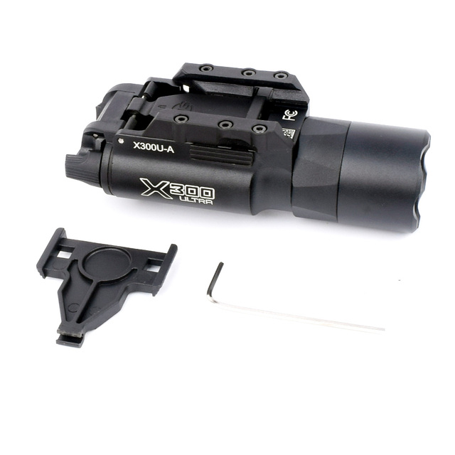 WIPSON Tactical X300U Flashlight Waterproof Weapon Light Pistol Gun Lanterna Rifle Picatinny Weaver Mount For Hunting