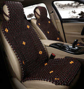 Wood Beads Universal Car Seat Cover 1 Piece Front