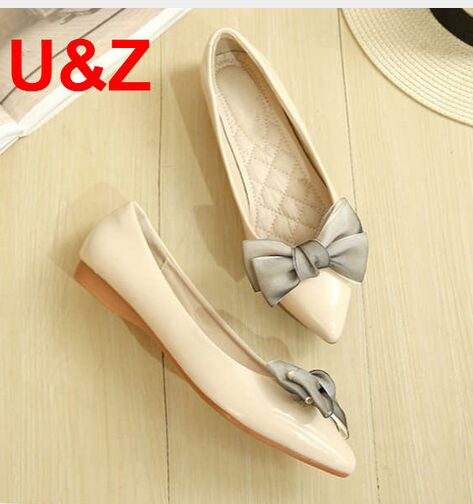 Fashion women party shoes elegant satin bow Flats Black Beige Square toe lovely Loafers go street