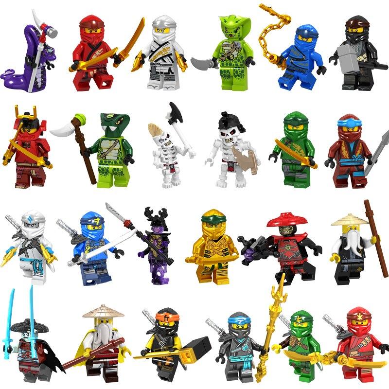 Legoelys Ninjagoinglys Building Blocks Snakes Zane Nya Lloyd Nuckal Chokun Snake Skeleton Ice Emperor Bone Soldier Brick