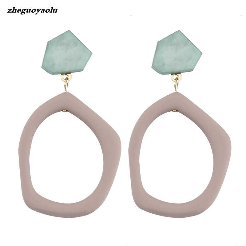 New Hot Fashion Geometric Square Earrings Brincos Simple Big Bohemian Wind Pendant Earrings For Women Ladies Jewelry Oorbellen
