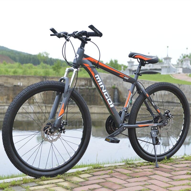 VTT 24 vitesses freins à disque mécaniques 26 pouces à vitesse variable vélo hommes et femmes étudiants vélo