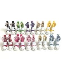 Мини-игрушки сапоги повседневные сникерсы обувь для кукол BJD, 1/8 БЖД кукла обувь парусиновая обувь 3,5 см, модные куклы аксессуары 12 пара/лот