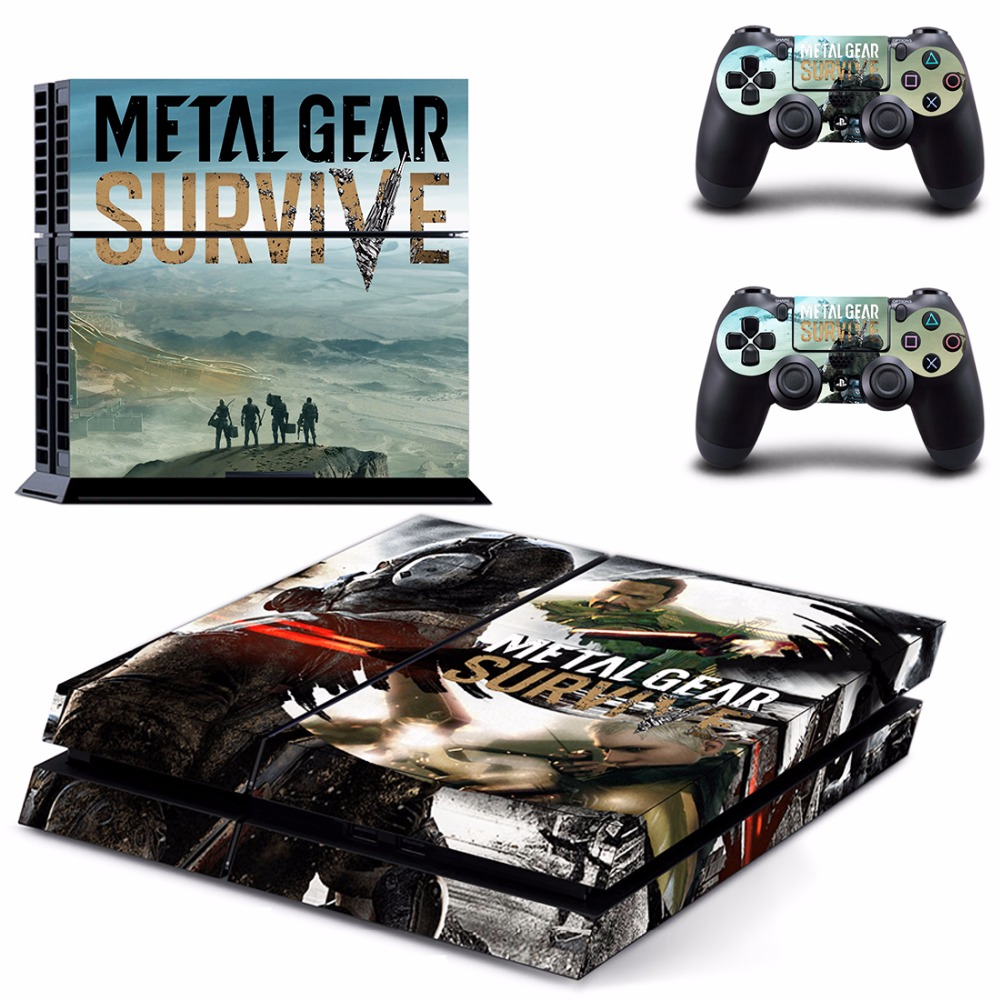 Game Metal Gear Survive PS4 Skin Sticker Decal For Sony PlayStation 4 Console and 2 Controllers PS4 Skins Sticker Vinyl