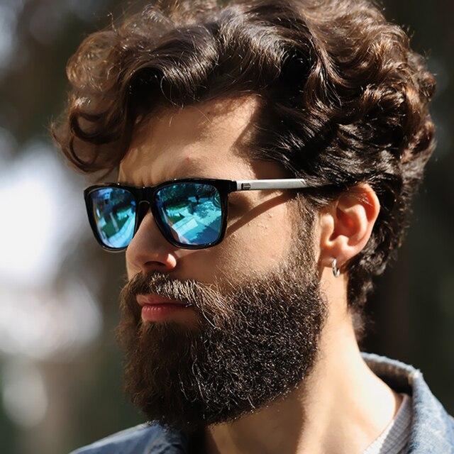 Hommes lunettes de Soleil Femmes Carré Marque designer Polaroid Rétro Soleil  lunettes UV400 Miroir Lunettes Mâle 790abeb215de