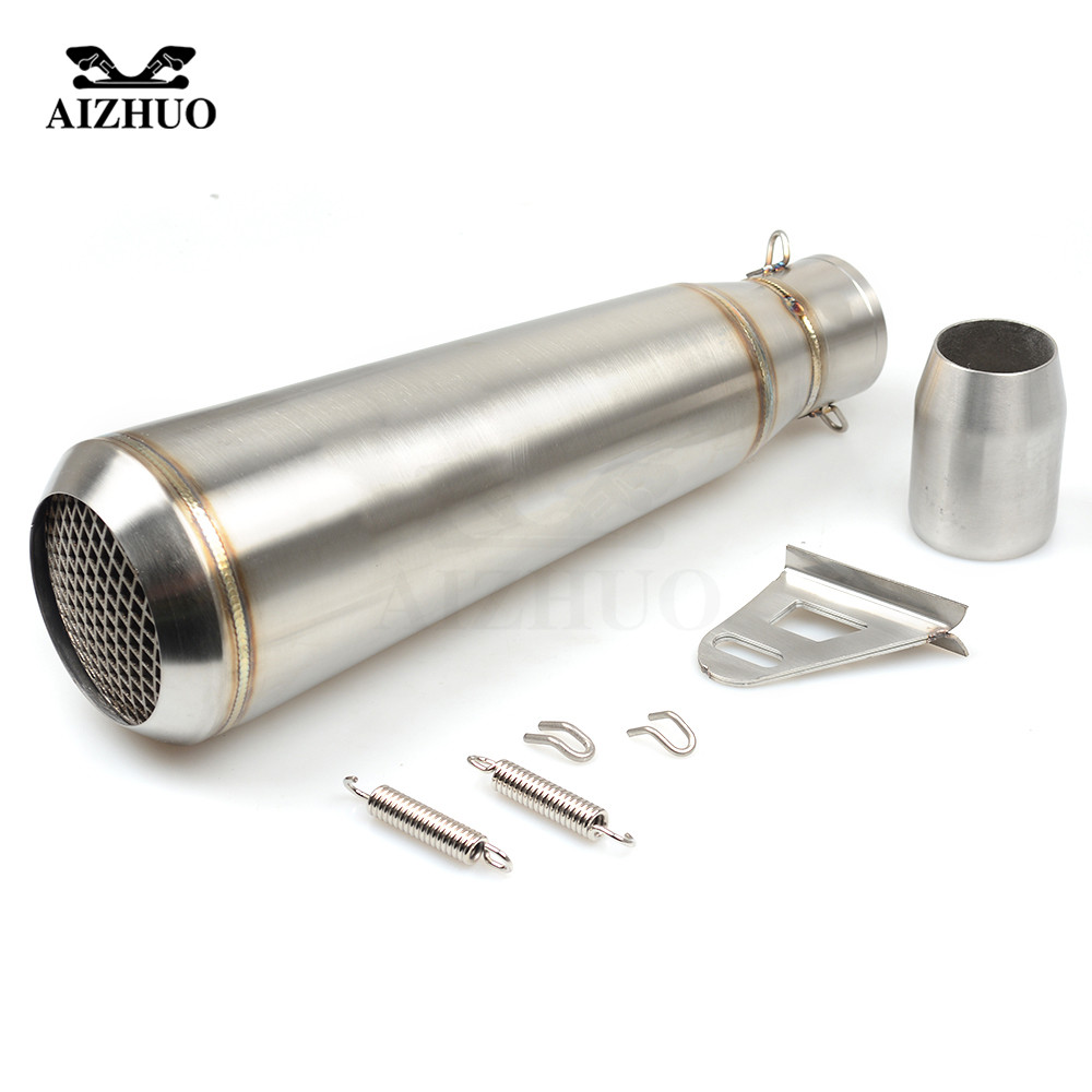 36-51MM Motorcycle Universal Exhaust Pipe Muffler FOR suzuki sv650 gsf katana hayabusa HONDA shadow 600 750 1100 CBR 125R цена