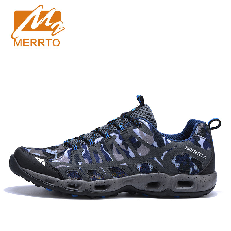 Merrto 2017 Breathable Trekking Shoes Men Outdoor Shoes Men Women Sports Sneakers Men Camouflage Hiking Walking Climbing Shoes outdoor hiking shoes men women camping sneakers breathable outdoor sports sneakers walking trekking sneakers for couples lovers
