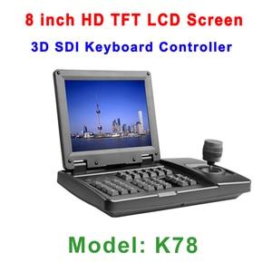 Image 5 - Full HD Onvif Video Live Media WebCam 1080p 20x SDI IP PTZ Camera with DVI LAN + 8inch TFT LCD Keyboard controller