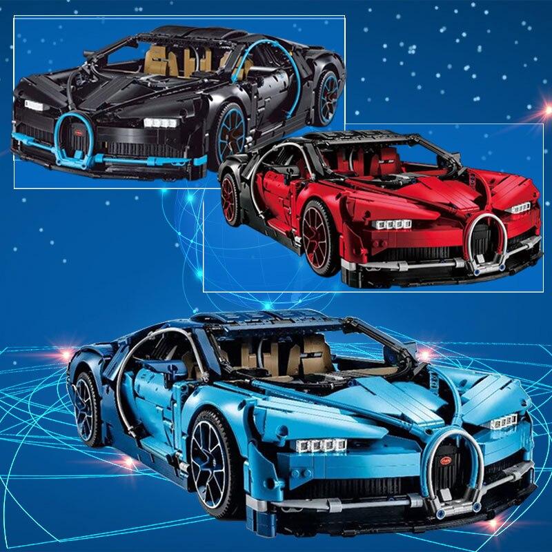 Характеристики фигурки Bugatti Хирон гоночный автомобиль наборы Совместимость Legoing 42083 модель здания Наборы блоки Кирпич Игрушки для Детский п...