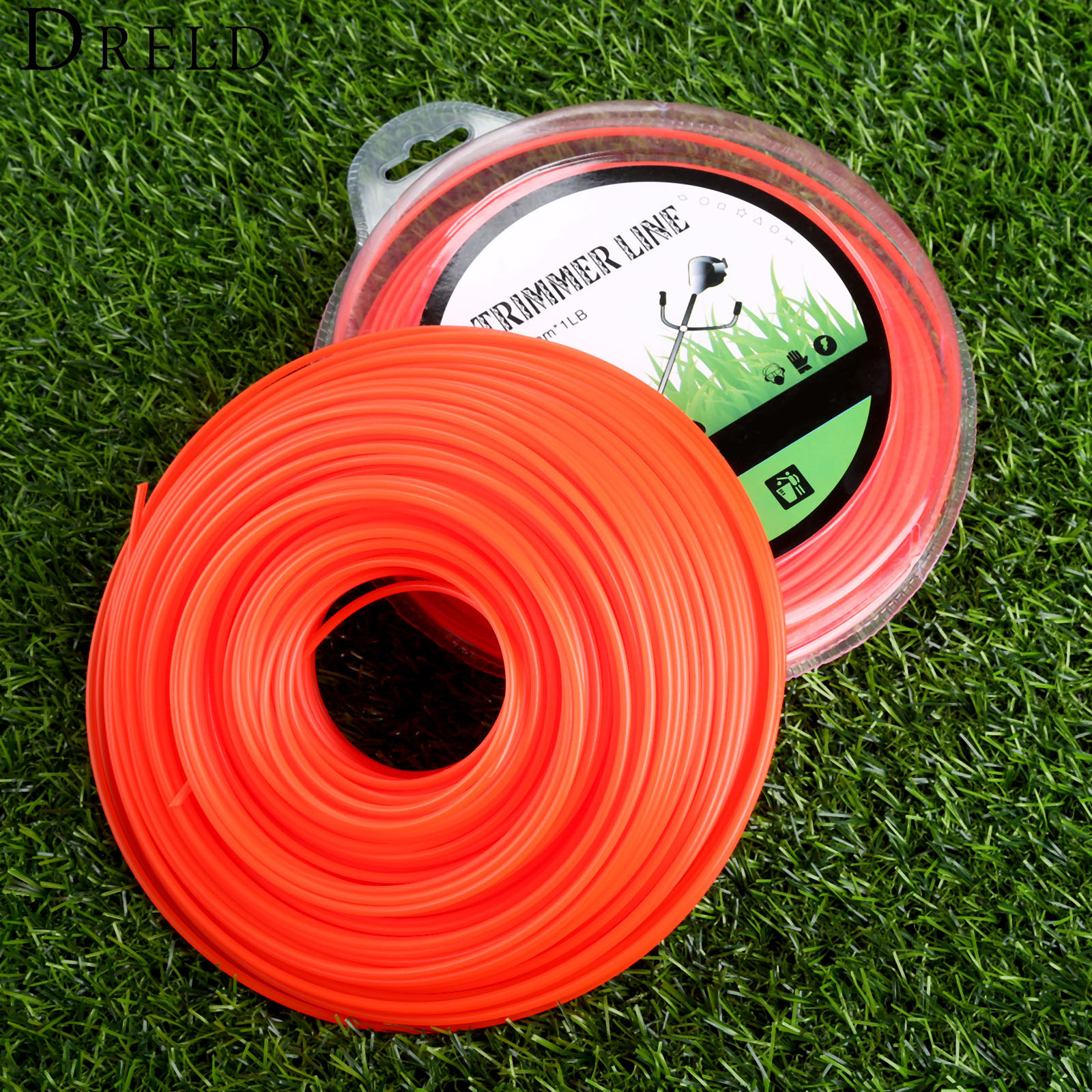 DRELD 2.4mm 1LB Trimmer Line Brush Cutter Spare Parts Nylon Cord Wire String Grass Strimmer Line Garden Tool For Lawn Mower gx25 gx35 stroke brush cutter trimmer lawn mower diaphragm carburetor garden tool parts