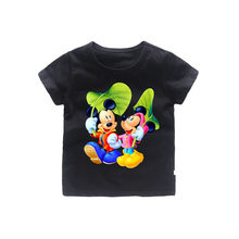 2-12T cartoon Michael mickey T-Shirt Cotton clothes Summer mouse T Shirt For Boys Tops Kids Children short sleeve Clothes(China)