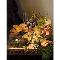 Frameless Pictures Diy Painting By Numbers Hand Painted On Canvas Decoration Painting Still Life Grapes And