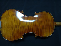 1 PC Hand Made Violin 4/4 Whole Maple Back Flamed Maple Spruce Top with Case and Violin Bow FDB9003#