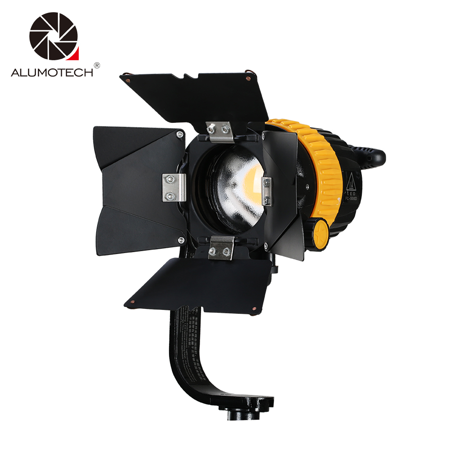 ALUMOTECH 50W LED High CRI 5500/3200K Portable Spotlight For Camera Video Photography Studio Support Continuous Lighting