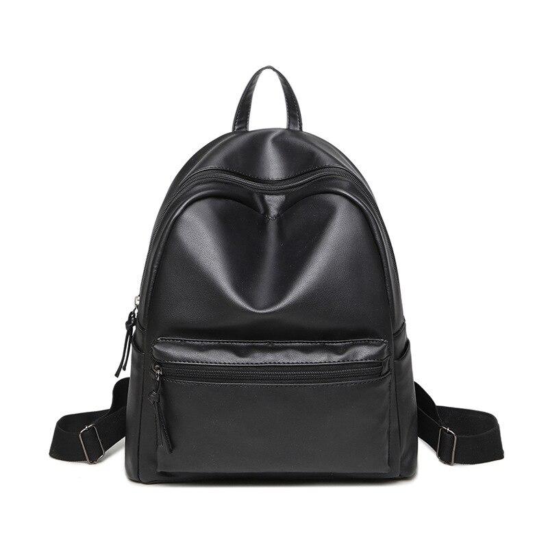 ROMERO BRITTO PU Backpack Women Casual Travel Bag For Teenage Girls Fashion Minimalist Style Shoulder Bags Black Schoolbag 2017