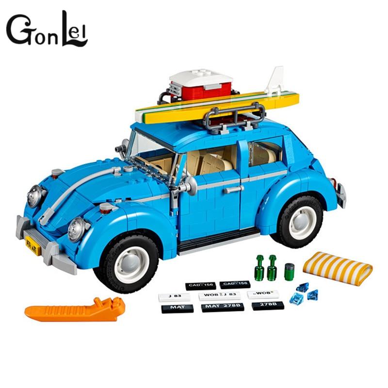 GonLeI 1167pcs Creator 10566 Mobile Expert Beetle car Kit 3D Model Building Blocks Toys Bricks Set Children's toys Christmas gif gonlei 3117 city creator 3 in 1 vacation getaways building blocks bricks kids model toys marvel compatible with