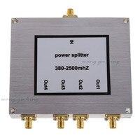 New 4 Way Power Splitter 380 2500MHz SMA RF Power Splitter Power Divider Booster Accessory Mobile