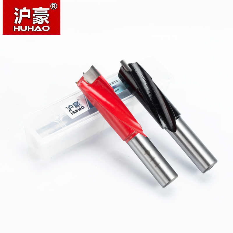 HUHAO 1 pc 4mm-9.5mm foret à bois 70mm longueur routeur mèche rangée de forage pour alésage machine Gang forets pour fraise en carbure de bois