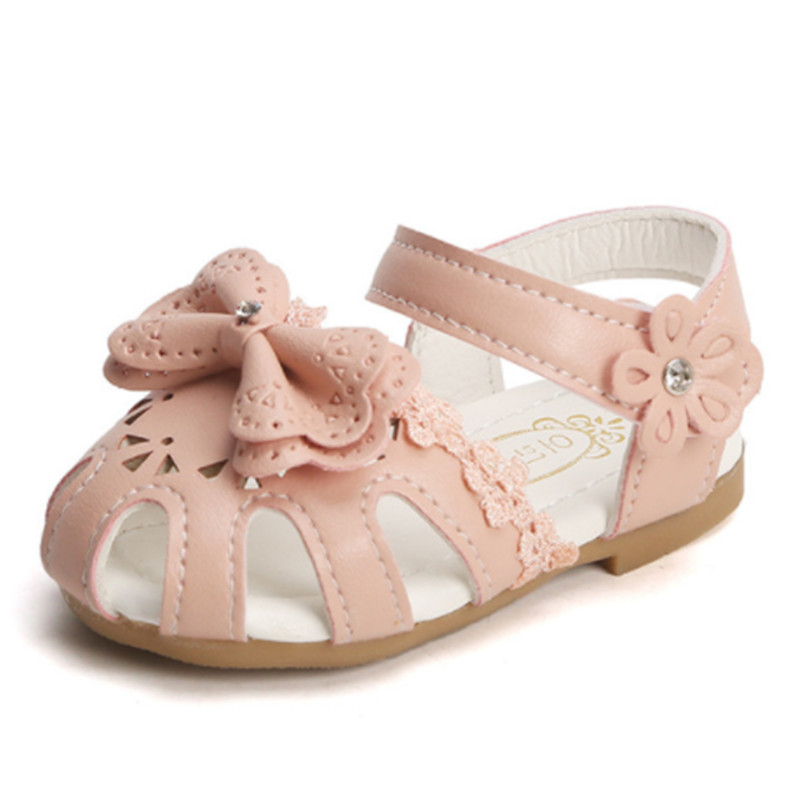 Bow Girls Sandals Baby Kids Princess Beach Shoes 2019 Children's Sandals For Girl Toddler Summer Shoes Sandalia Infantil Size 15