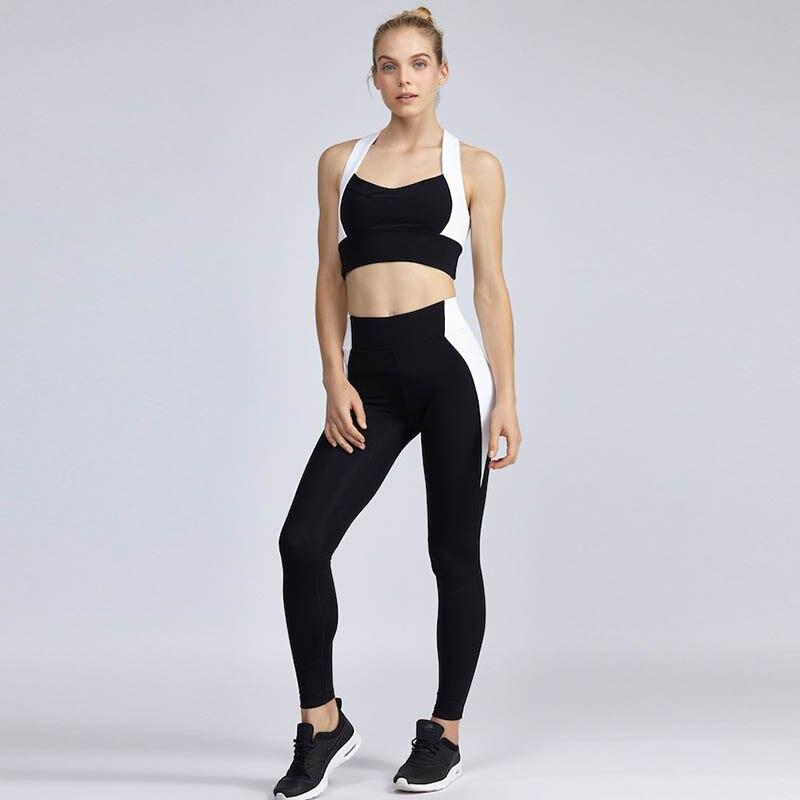 JIGERJOGER 2017 White VS Black Yoga Set Brand Quality Tops