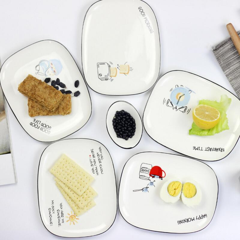 20cm Size Rectangle Shape European Style Fruit Salad Cake Breakfast Ceramic Dinner Plate-in Dishes u0026 Plates from Home u0026 Garden on Aliexpress.com | Alibaba ...  sc 1 st  AliExpress.com & 20cm Size Rectangle Shape European Style Fruit Salad Cake Breakfast ...