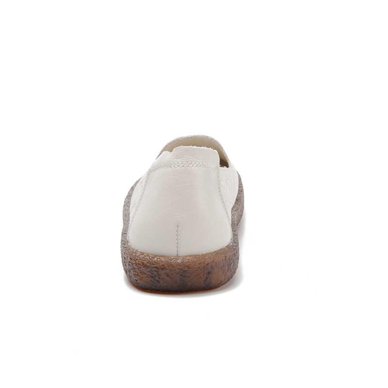 Nueva llegada de la venta caliente zapatos planos zapatos de mujer flor señoras pisos Super suave hecho a mano de las mujeres zapatos casuales zapatos