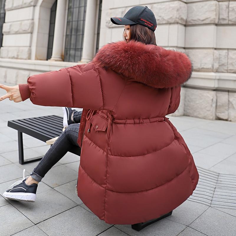 Deodar Col Et Vestes D'hiver Blanc Noir rouge Épais Veste Duvet Slim Manteaux Fourrure blanc De Chaud Long Canard Grand vert Femmes gris Hiver 2018 xrXqwpOCr