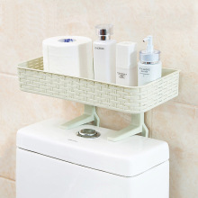 1pc Plastic Shampoo Bathroom Racks Wall Mounted Type Bathroom Toilet Organizer Home Storage