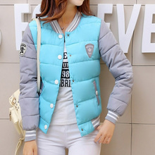 2017 New Women's Fanshion Coat Downt Cotton Padded Short Jacket Parka Slim Thick Warm windrbreaker Female Baseball Clothes