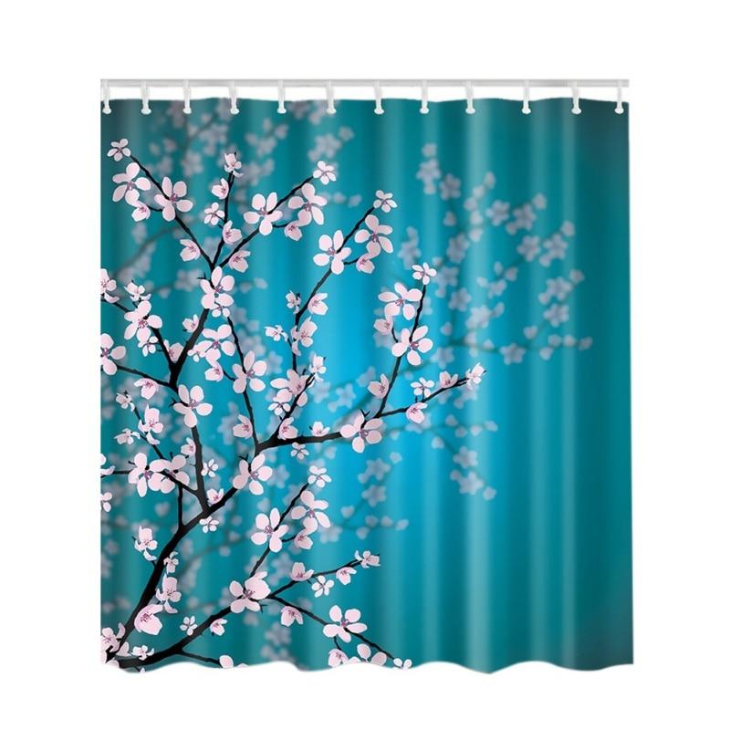 New Arrived Waterproof Fabric Shower Curtain for Bathroom 3D high-definition digital printing Custom Shower Curtain 180cm*180cm