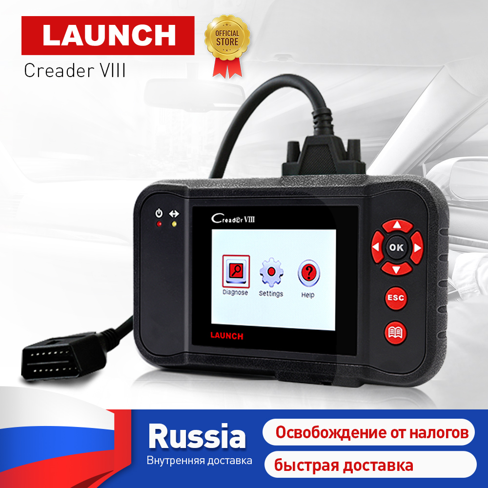 LAUNCH X431 Creader VIII 8 obd2 EOBD Code Reader Scanner tester ENG/ABS/SRS/Airbag + Brake/SAS/Oil reset function same as CRP129 цена