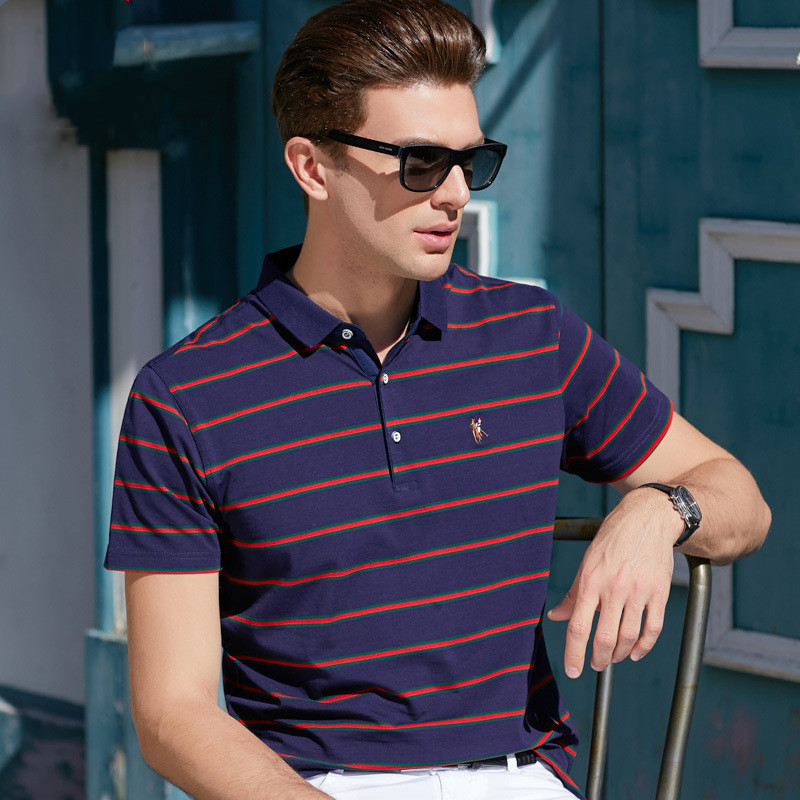 BOLUBAO Brand Stripe Men's   Polo   Shirt 2019 Summer Business Casual Men   Polo   Shirts Slim Fit Male   Polo   Tee Top