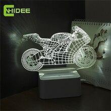 Ар-деко ночник затемнения выключатель спальня настольная сна сенсорный мотоцикл кристалл лампа