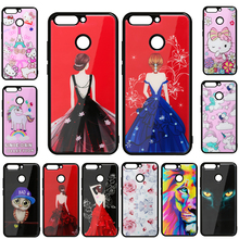 Imitation Glass Case for Xiaomi Redmi Note 5A Hybrid Hard cartoon painted Acrylic imitation glass Cover
