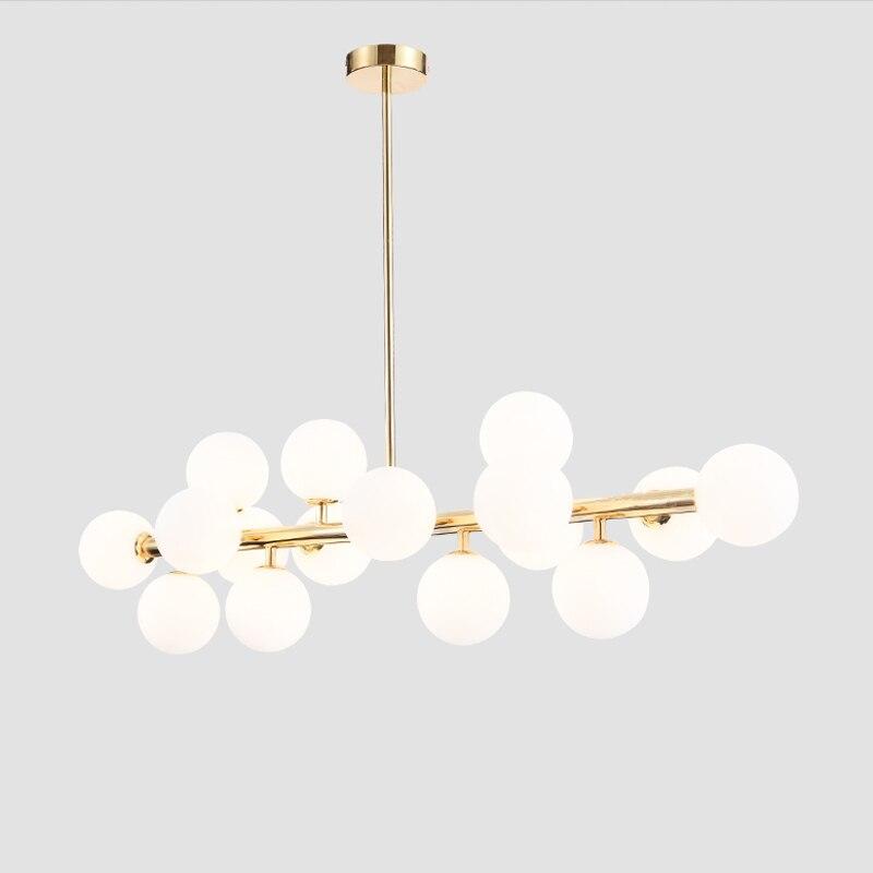 Vintage Loft Industrial chandelier black Gold Bar Stair hanging light Dining Glass ball Retro Lindsey glass