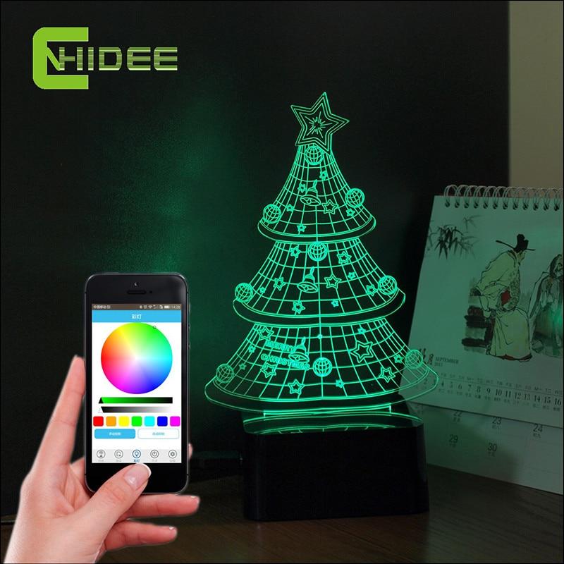ФОТО Creative Gifts 3D Music Led Lampara Christmas Tree Atmosphere Party Bluetooth Speaker Night Light Baby Sleeping USB Nightlight